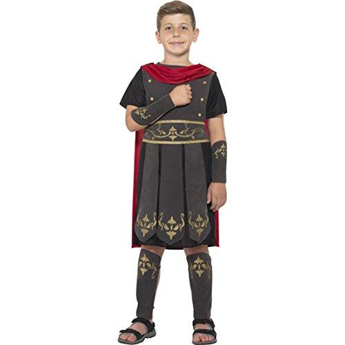 Amakando Gladiator Kostüm Kind - L, 10 - 12 Jahre, 145 - 158 cm - Verkleidung römischer Soldat Spartaner Faschingskostüm Jungen Karnevalskostüm Legionär Soldatenkostüm Antike Kinderkostüm Römer