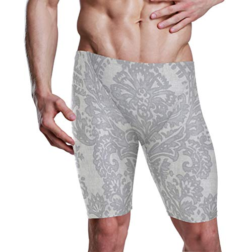 MALPLENA Herren Badehose Surf Batik Silver (Regular & Extended Sizes) Gr. L/XL, 1