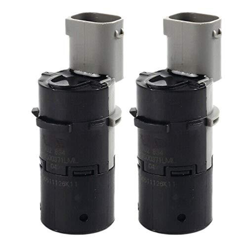 LINLIN 2 unids coche inversa respaldo asistencia PDC Sensor de estacionamiento Fit para E39 E46 E53 E60 E61 E63 E64 E65 E66 E83 66206989069 66200309540 66200309540 Sally ( Color : Black gray )