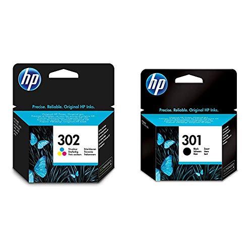 HP 302- Cartuchosde Tinta Negro y Tri-color, Pack de 2