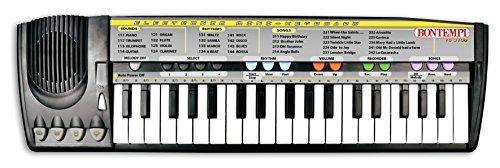 Bontempi- Tastiera 37 Tasti, Colore Nero, 15 3100