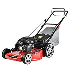 200CC OHV GAS ENGINE AND 22-INCH STEEL MOWING DECK: PowerSmart gas lawn mower contains with powerful 4-stroke, single cylinder gas engine which provides you powerful back up for clearing the tallest and toughest grass. Forced air-cooling system is eq...