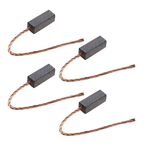 Ototec - 2 pares de escobillas de carbón para motor con cable de cobre 12-24 V para vehículos, bomba, limpiaparabrisas, ventanas