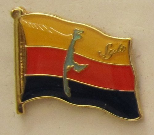 Pin Anstecker Flagge Fahne Sylt Nordsee Inselflagge Flaggenpin Badge Button Flaggen Clip Anstecknadel