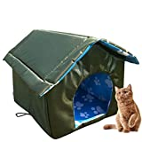 Wood.L Cat House Outdoor Dog Heated Bed For Houses Cats Pet Outside -Pet Outdoor House Waterproof Weatherproof Cat House Foldable Pet- Shelter For Pets