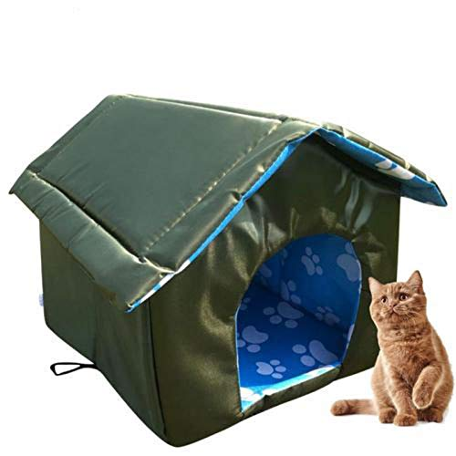 Wood.L Cat House Outdoor Dog Heated Bed For Houses Cats Pet Outside -Pet...