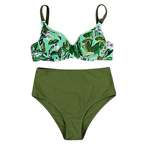 Nuevo 2021 Conjunto de Bikinis Mujer Bikini Sexy Trajes de Baño Mujer dos piezas Ropa de Playa Cintura alta Impresión Push up Bikini spa Tankinis Bañador Beachwear Vacaciones