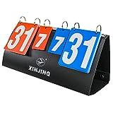Sutekus Fashing Sports Badminton Scorecard Multi-Functional Practical Scoreboard Flipper Flips Counter Board