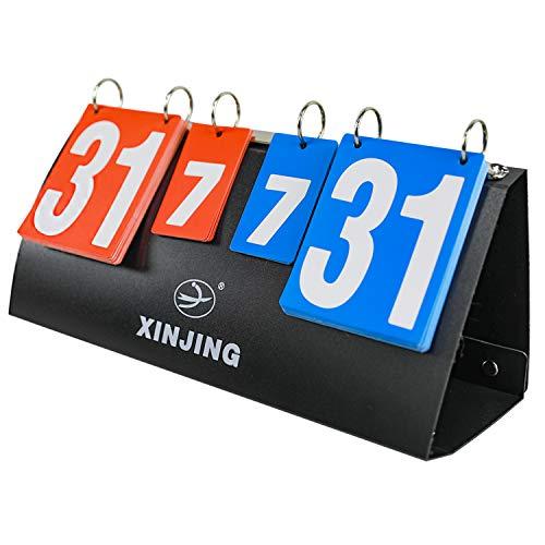 Sutekus Portable Flip Scoreboard Score Board for Baseball Football Soccer Ping Pong Football Volleyball Basketball Table Tennis Ice Hockey (7 Sets, 31 Scores)