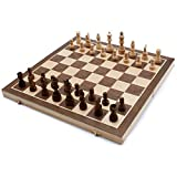 15-Inch Large Magnetic Folding Chess Board Game Set with...