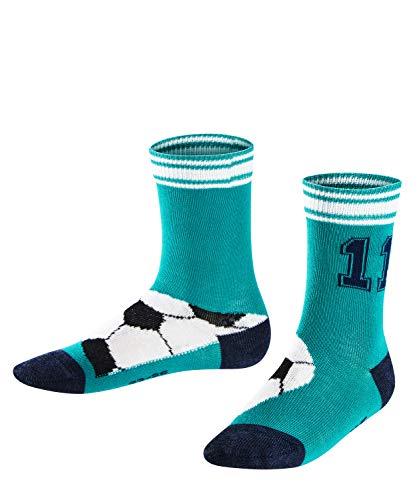 FALKE Kinder Socken Soccer, Baumwollmischung, 1 Paar, Grün (Arctic 7300), Größe: 23-26