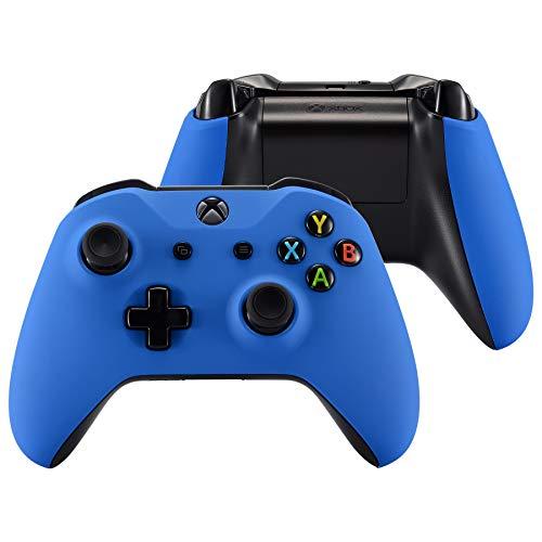 eXtremeRate Cover Custodia Copertura Frontale con Impugnatura Grip Case DIY Ricambio per Xbox One S X Controller Model 1708-Blu