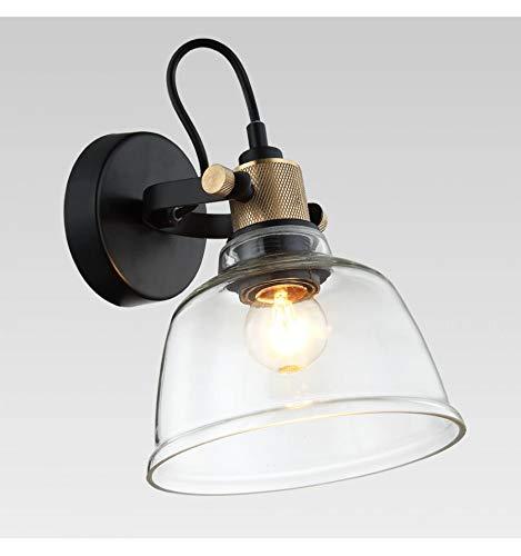 KOSILUM - Petite applique en verre transparent - Linz - Lumière Blanc Chaud Eclairage Salon Chambre Cuisine Couloir - 1 x 40 W - - E27 - IP20