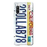 Xperia 10 Ⅲ ケース SO-52B SOG04 ハードケース [薄型/耐熱/全面印刷] Numberplate (ホワイト) エクスペリア スマホケース スリム CollaBorn Oilshock Designs (オイルショックデザインズ)
