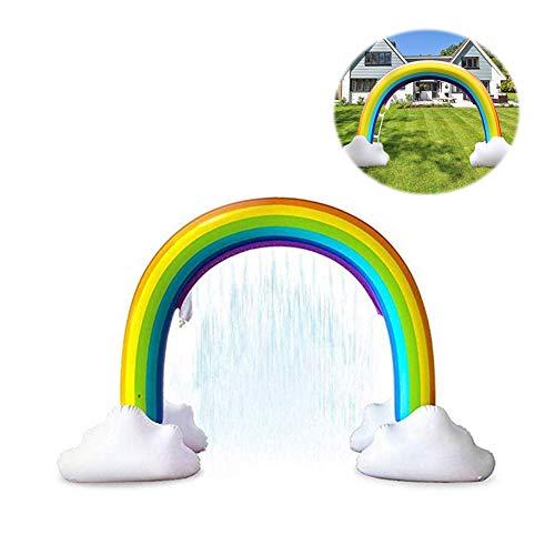 Duurzaam Draagbaar Opblaasbaar Sprinkler Pad Sprinkle Waden Zwembad, Zomer Essentieel Spuitspeelgoed Voor Kinderen En Buitentuin Familie-Activiteiten 240 * 180 * 100Cm