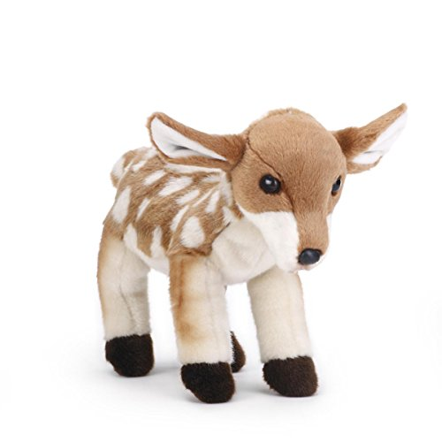 DEMDACO Wobbly Small Fawn Spotted Tan Children's Plush Stuffed Animal