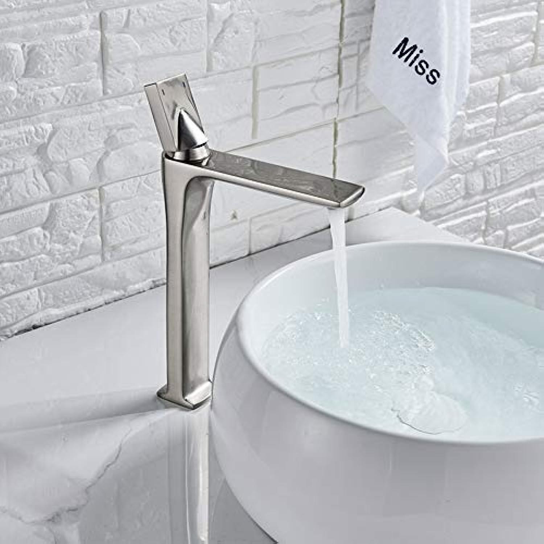 ZHFJGKR&ZL   Badezimmer Wasserhahn   Schwarz Bronze Bad Wasserhahn kalt warmwasser dosiert Wasserhahn einzigen handgriff Bad Messing waschbecken wasserkran Silber