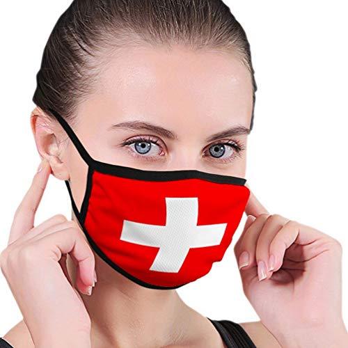 Mehrweg Gesichtsschutzhülle,Radfahren Gesichtsschutz,Sonnenschutz Gesichts,Erwachsene Kinder Schutzhülle,Gesichtsschal,Flagge Der Schweiz Mit Beamten Bandana
