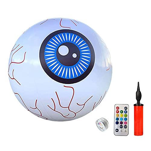 Halloween Opblaasbare Oogbal LED Lichten Pompoen Ballonnen Afstandsbediening LED Lichtgevende Bal Geschikt voor Tuinen…