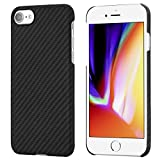 PITAKA MagEZ Case Compatible with iPhone 8, iPhone 7,4.7' Slim Case Aramid Fiber [ Body Armor Material] Minimalist Phone Case, Snugly Fit Snap-on Cover - Black/Grey(Twill)