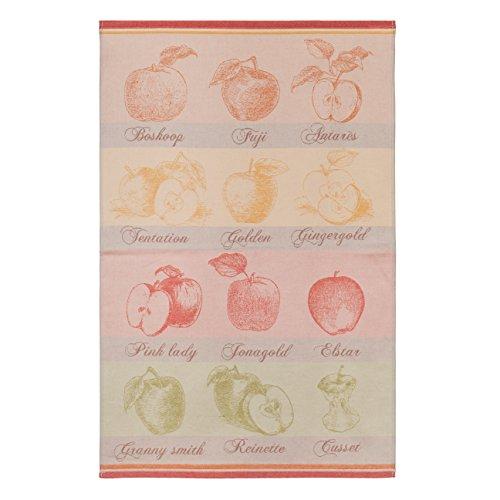 Coucke TNO-250-7094501-000-CKE Torchon Quartiers DE Pomme Rouge, Coton, 50 x 75 cm