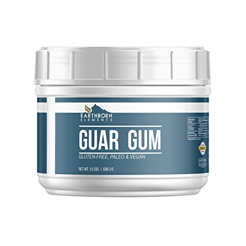 Guar Gum Powder, (Tub, 1.5 lb) Gluten-Free Food Thickener & Binder, Baking, Natural Laxative, Resealable Tub by Earthborn Elements