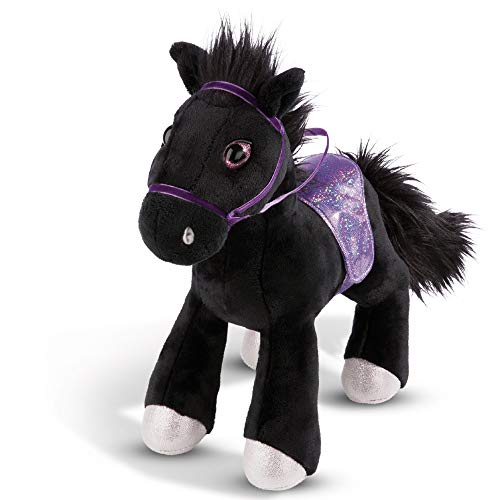 NICI Kuscheltier Pferd Black Cassis 25 cm – Plüschtier Pferd für Mädchen, Jungen & Babys – Flauschiges Stofftier zum Kuscheln, Spielen und Schlafen – Gemütliches Schmusetier für jedes Alter – 44902