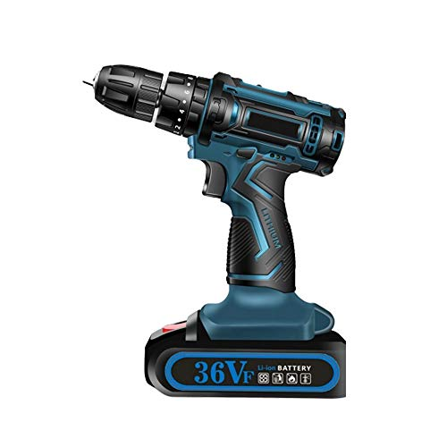 36v Electric Screwdriver,3 Functions Battery Screwer,for Drilling Walls, Wood, Metal