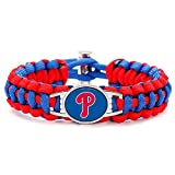 Swamp Fox Premium Style Philadelphia Phillies Baseball Team Adjustable Paracord Survival Bracelet