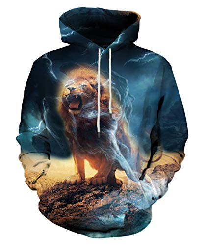 LAIDIPAS 3D Hoodies Cool Animal Sweatshirts for Men Women M