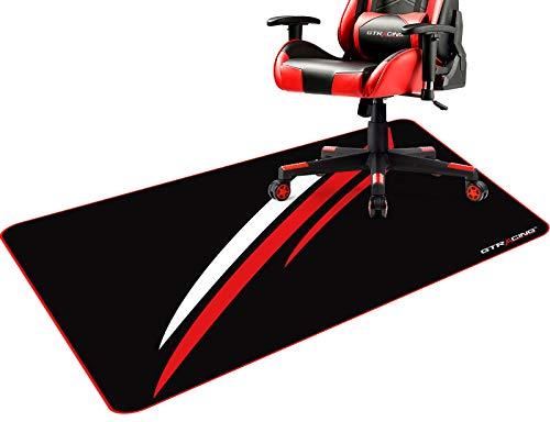 Gtracing ゲーミングチェアマット チェアマット 床保護マット チェアマット カーペット ラグ デスクマット 傷防止マット 吸着 床マット大型 防音 洗える ISSA認証抗菌防臭 一年保証110CM*90CM*2mm (602-RED)