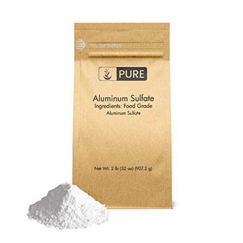 Pure Aluminum Sulfate (2 lb.), Pure Dry Alum, Soil Acidifier, Hide Tanner, Water Treatment (Also Available in 4 oz & 1 lb)