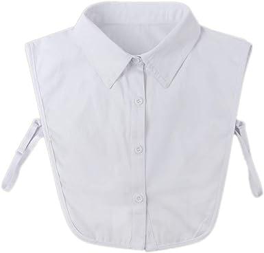 Zonfer La mitad de los collares falsos camisa falsa cuellos ...
