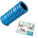 Starwood Sports Triggerpunkt-Massagerolle - Fitnessrolle zur Tiefengewebsmassage und Faszientherapie - Reha, Fitness, Crossfit, Yoga & Pilates (Außen: Blau, Innen: Schwarz)