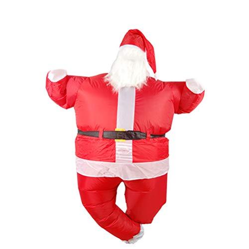 Roupas infláveis de Papai Noel KesYOO para fantasia de boneca de desenho animado de Natal, acessórios de festa para cosplay, acessórios para mulheres, homens, adultos