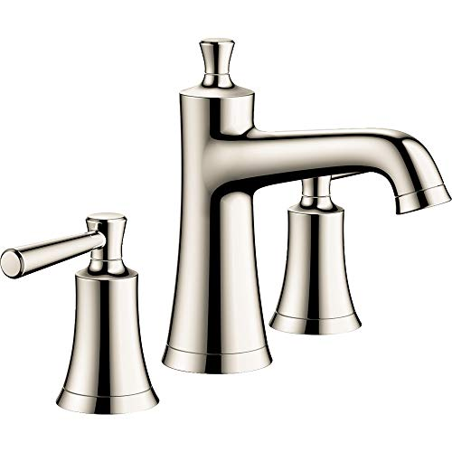 hansgrohe Joleena Transitional 2-Handle 3 7-inch Tall Bathroom Sink Faucet in Polished Nickel, 04774830