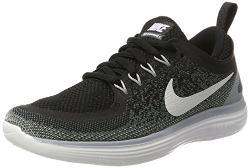 Nike Free RN Distance 2, Zapatillas de Running para Mujer, Multicolor (Black/White-Cool Grey-Dark Grey), 36 EU