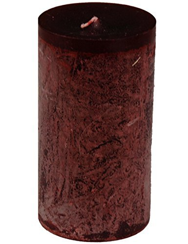 Vance Kitira Timber Collection Pillar Candle - Wine (3.25' by 6')