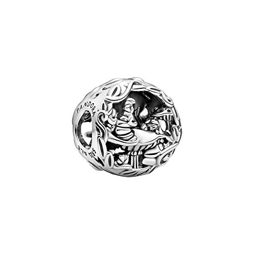 Pandora Disney Alice im Wunderland Grinsekatze & Raupe Absolem Charm, aus Sterlingsilber, 799361C00