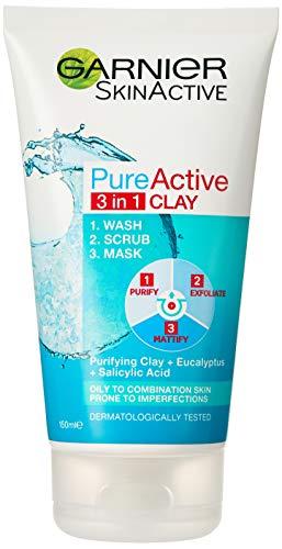 Garnier Pure Active 3 in 1 Wash Scrub and Mask 150ml