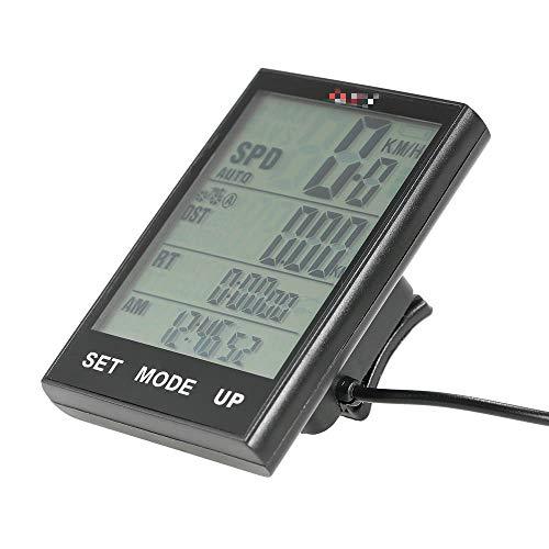 Velocímetro para bicicleta, ordenador de iluminación, resistente al agua, cuentakilómetros, temperatura para...