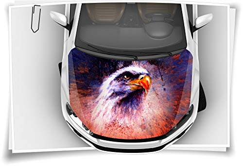 Adler USA Indianer Vogel Motorhaube Auto-Aufkleber Steinschlag-Schutz-Folie Airbrush Tuning Car-Wrapping Luftkanalfolie Digitaldruck Folierung