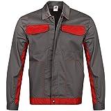 BWOLF Ares - Chaqueta de trabajo para hombre (100% algodón) gris XXXL