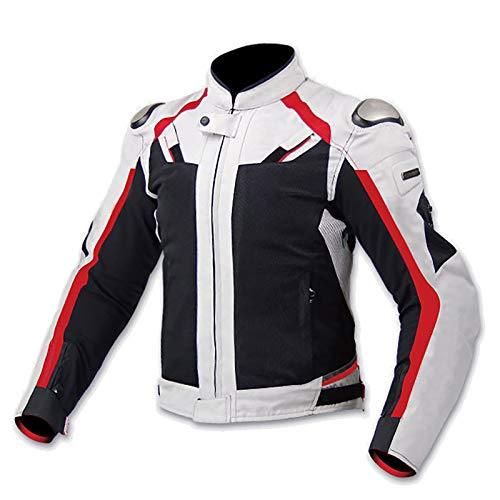 Chaqueta Moto Hombre con Armadura Motocicleta Cordura CertificacióN CE Camisetas de Motocicleta AleacióN de Titanio Piloto de Carreras de Motos Traje Resistente A Las CaíDas B,M