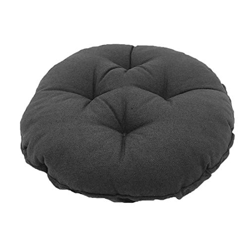 TFlower Bar Stool Cushion Round Memory Foam Bar Stool Covers Round Cushion with Non-Slip Backing and Elastic Band 12 inches Dark Gray
