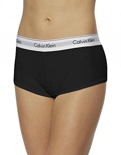 Calvin Klein Women's Regular Modern Cotton Boyshort Panty, Black, Medium