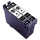 ESMOnline 2 - Cartuchos de Impresora XL para Epson Expression Home XP-5115 XP-5105 XP-5100 Workforce WF-2860DWF WF-2865DWF E502 T502 502XL 502, Color Negro