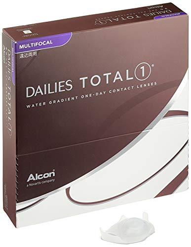 Alcon Dailies Total 1 Multifocal Tageslinsen weich, 90 Stück / BC 8.6 mm / DIA 14.1 mm / ADD MED / -2.5 Dioptrien