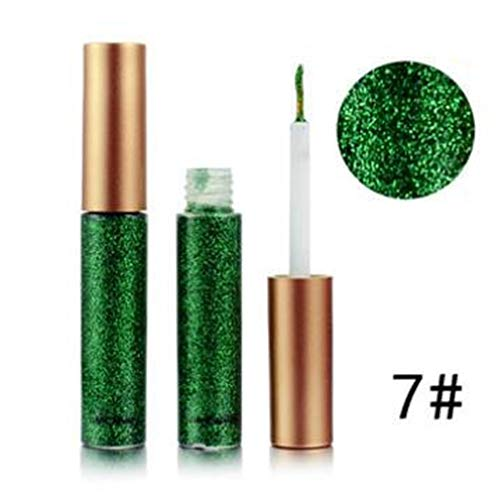 EgBert Glitter Eyeliner Liquid Makeup Eyes Liner Impermeable Oro Verde Shinning Diamond Pigmented Halloween - 7