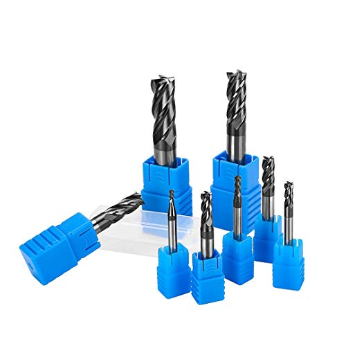 End Mill Set Metric CNC Milling Cutter Union Butterfield Tungsten 4 Fultes accupro Carbide Rotary Bits Tool Straight Shank 2-12mm 8pcs